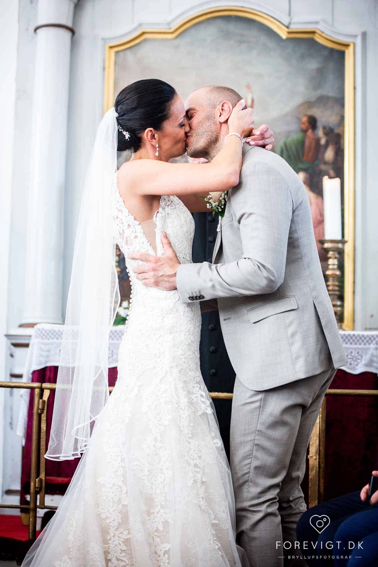 Wedding reception with wedding cake