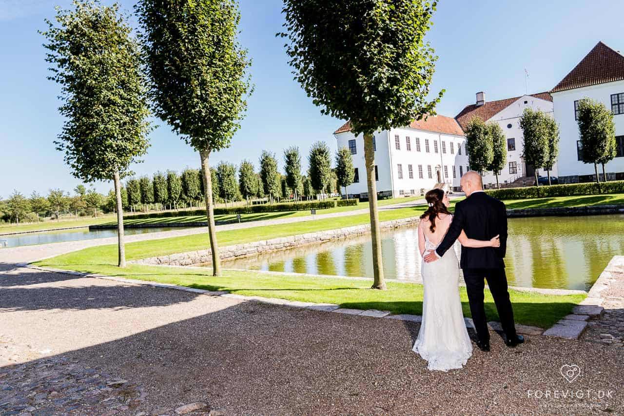 Bryllup med vielse på slottet. Clausholm Slot