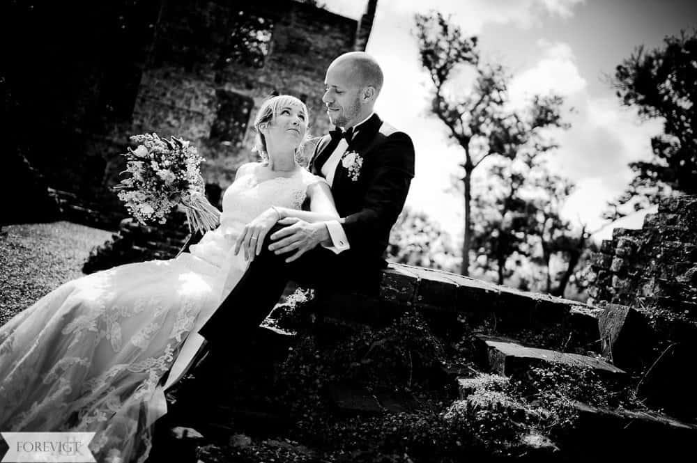 Trøjborg slotsruin bryllup