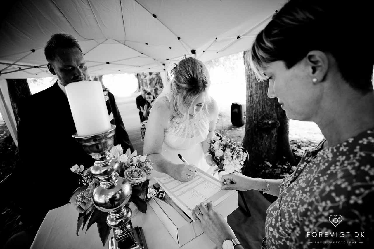 Professionel bryllups fotografering i studie eller on location