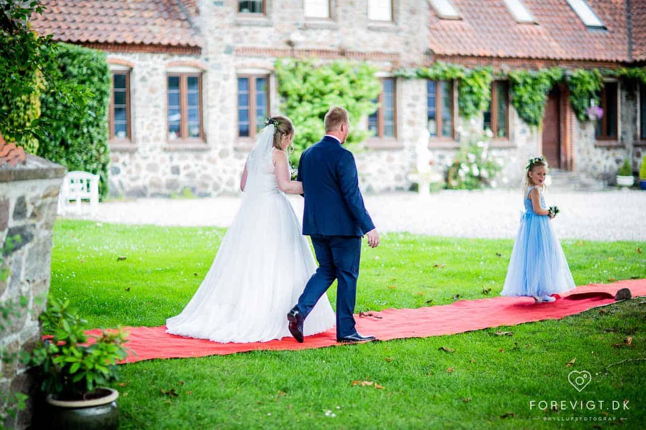 Brudeparret havde valgt Lille Restrup, som deres lokation for brylluppet