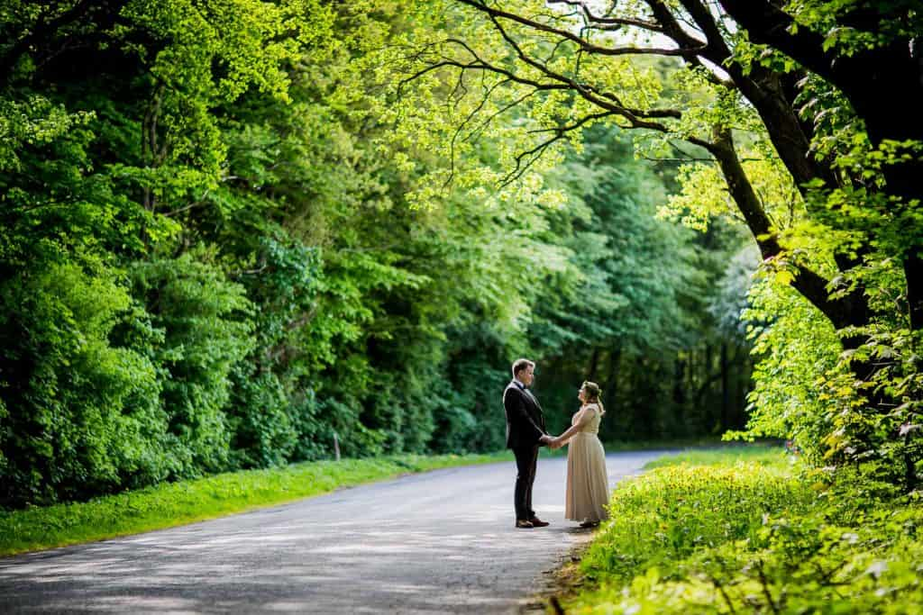 bryllupsbilleder i skov horsens