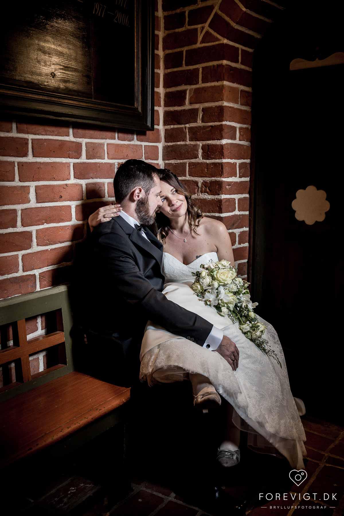 brudepar i det gamle rådhus ribe