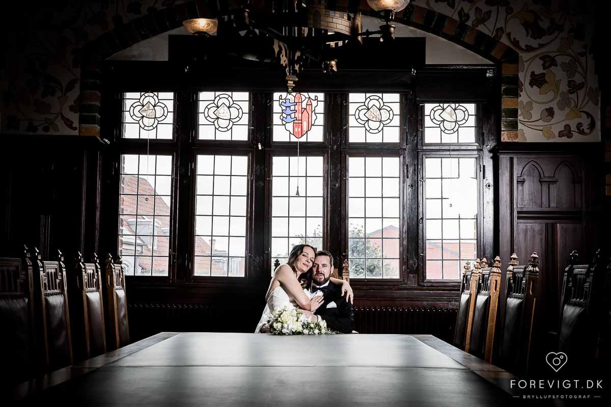 brudepar det gamle rådhus i Ribe