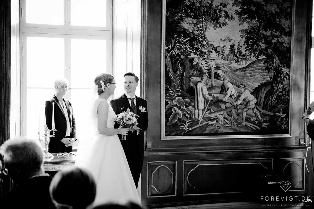 Fotografering af bryllup på Hvidkilde Gods