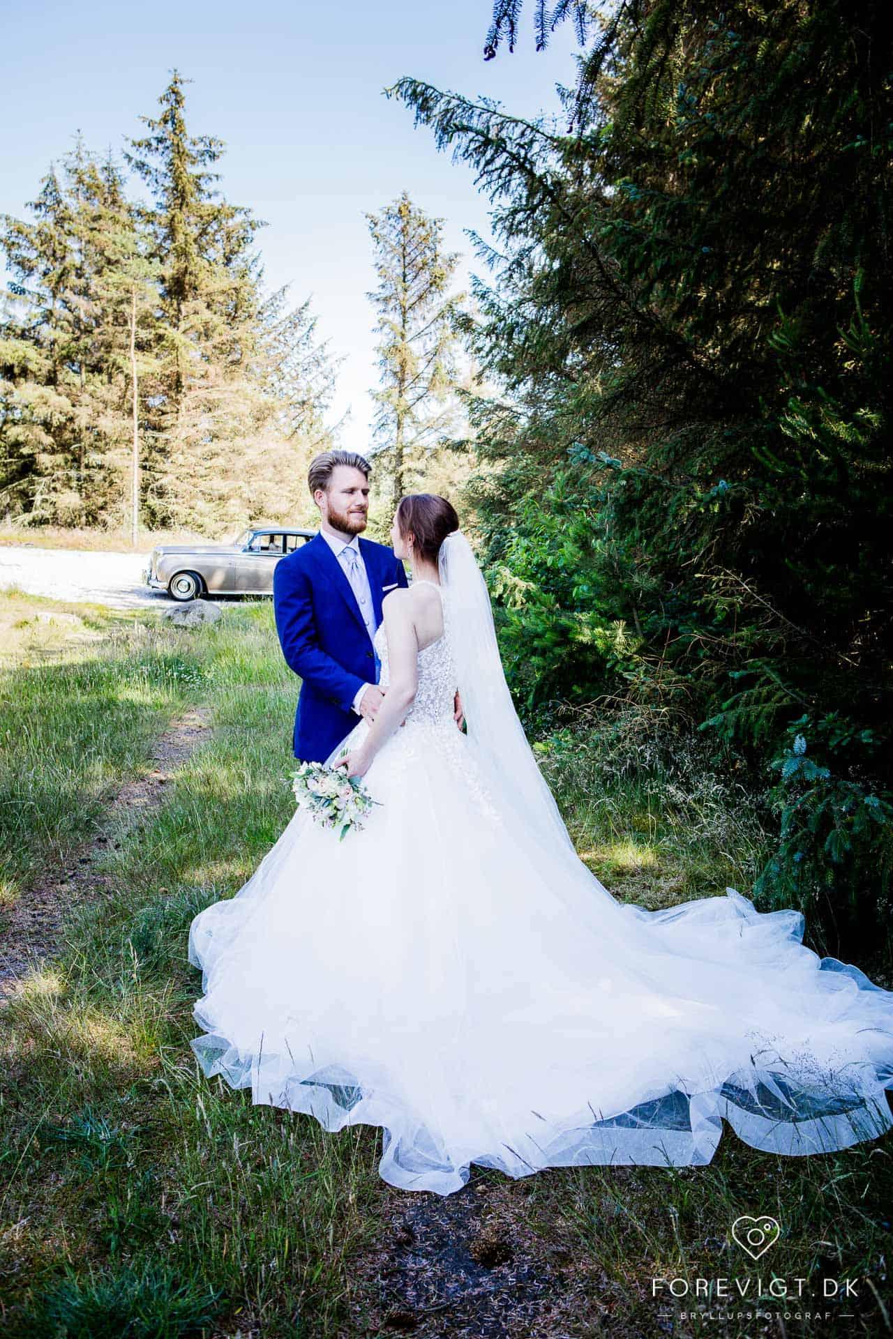 bryllupsfoto ved Hjerting