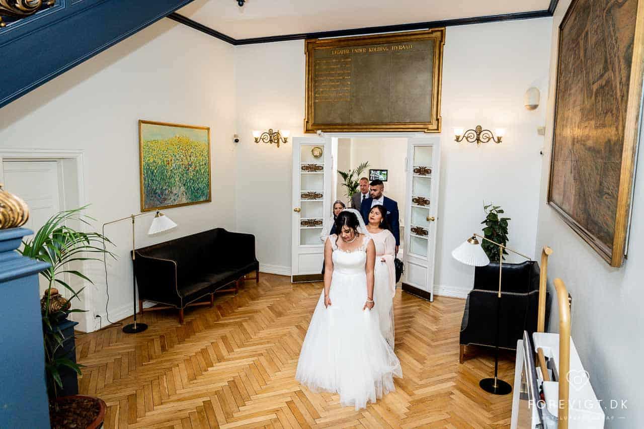 Kolding Rådhus bryllup - Fotograf Kolding