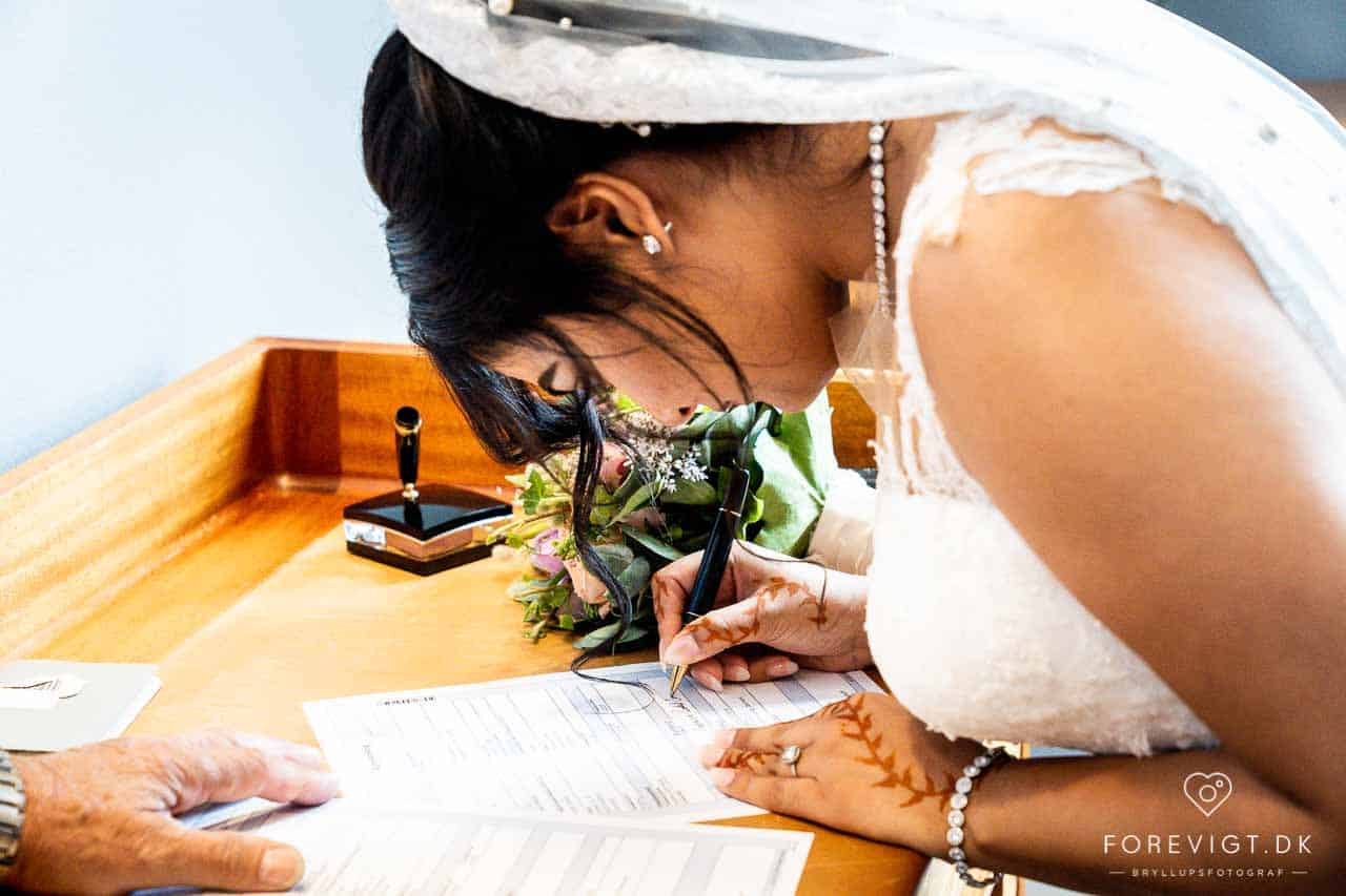 rådhus bryllup kjole Kolding