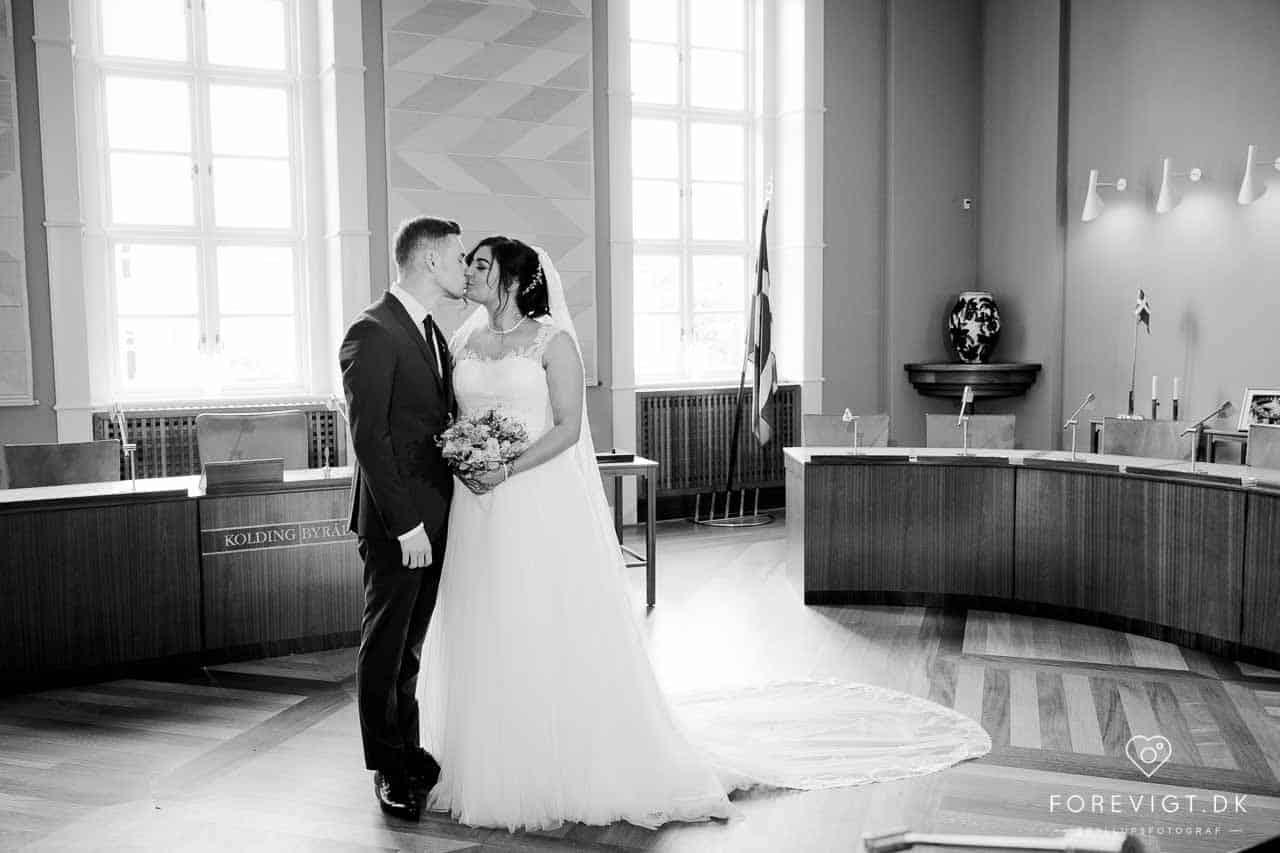 Rådhuset i Kolding kan danne en smuk ramme om dit bryllup