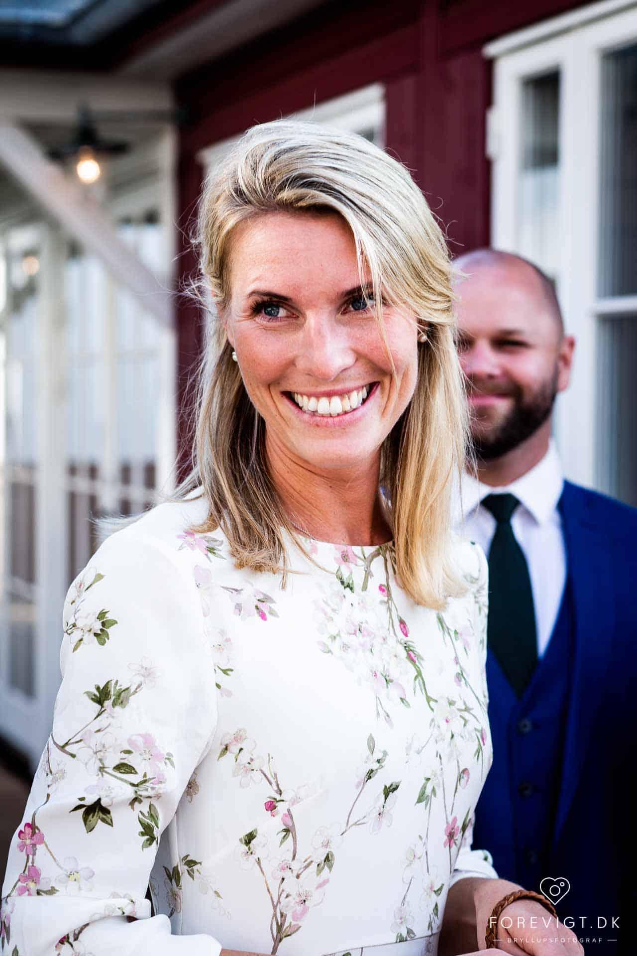 Strandhotellet Blokhus bryllup på en flot sommerdag