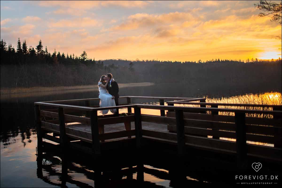 bryllupsfoto solnedgang