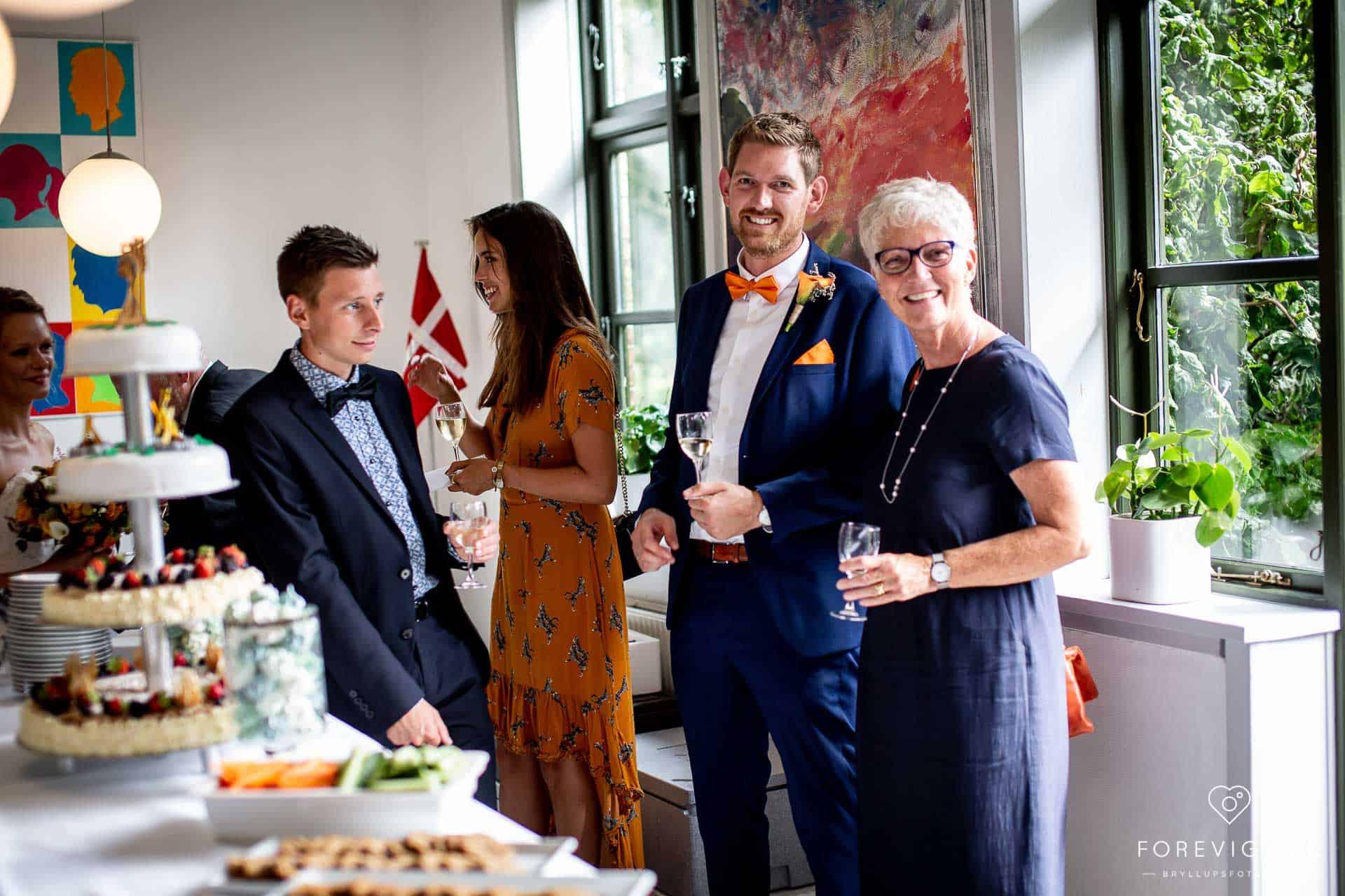 gæster Ryå Efterskole brylluppet