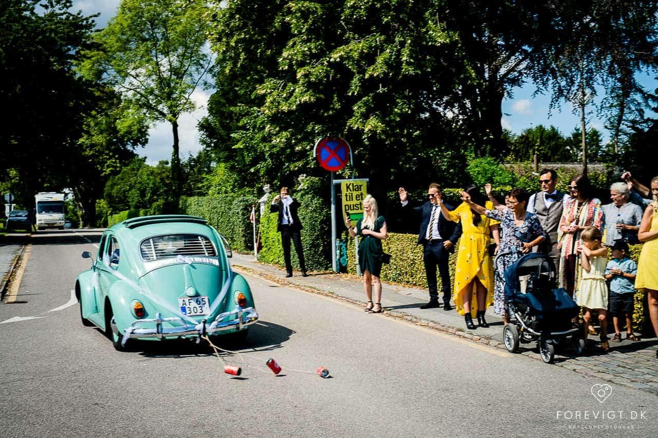 tillykke til brudeparret Strøby kirke bryllup på Stevns