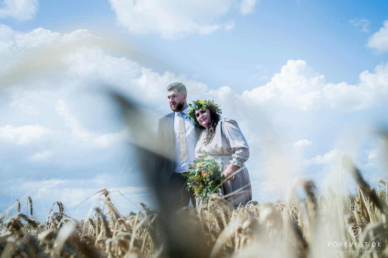 bryllupsfotografering ved Stevns Klint