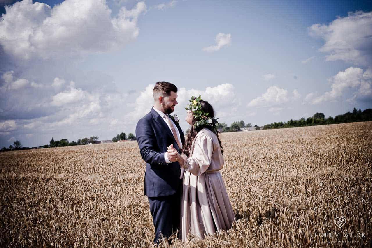 bryllupsfotografer ved Stevns Klint