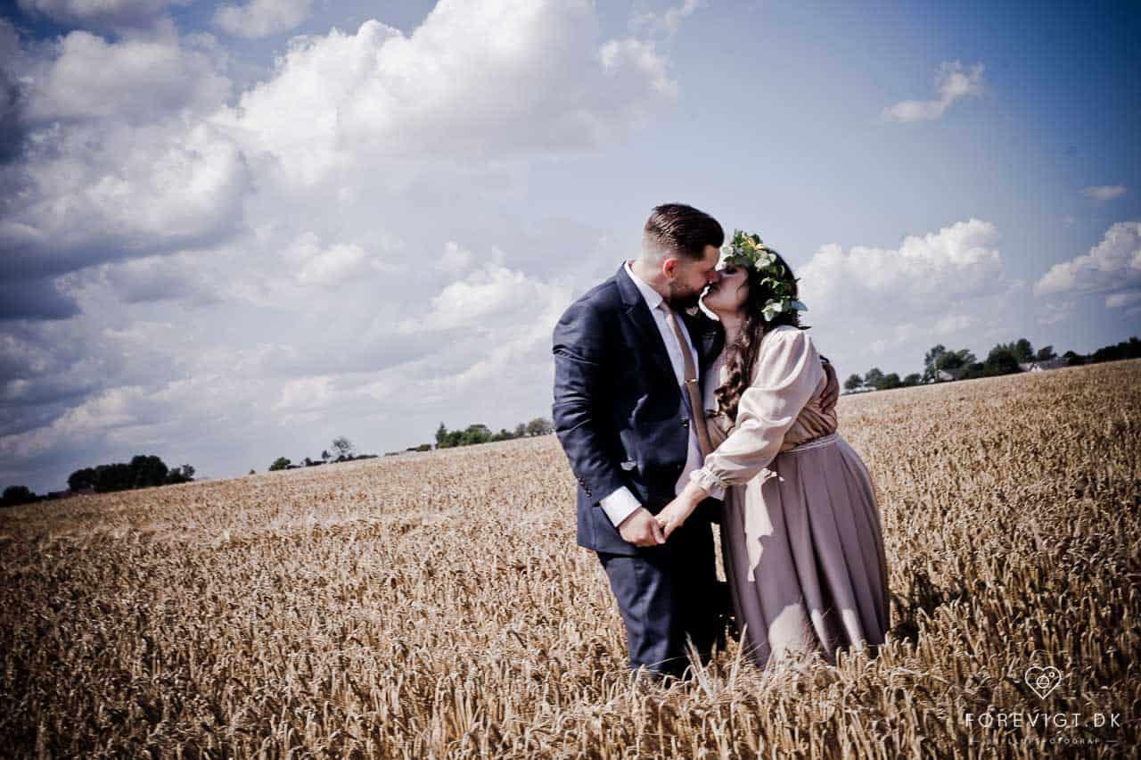 bryllupsfotografi ved Stevns Klint