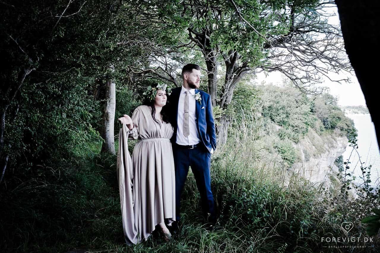 bryllupsfoto ved Stevns Klint