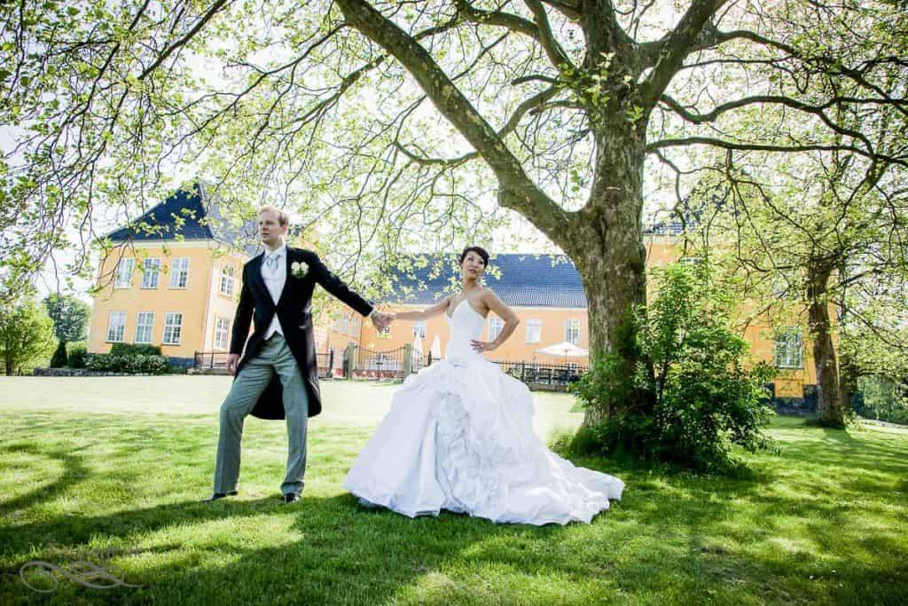Bryllupsportrætter Lykkesholm Slot