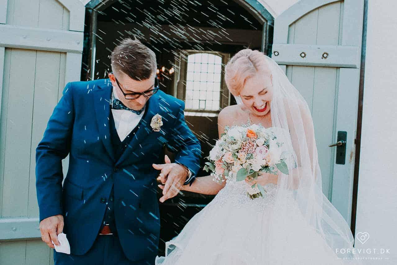 brudeparret ved Gærum kirke