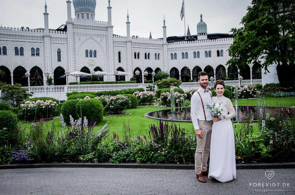 Brudepar i Tivoli KBH