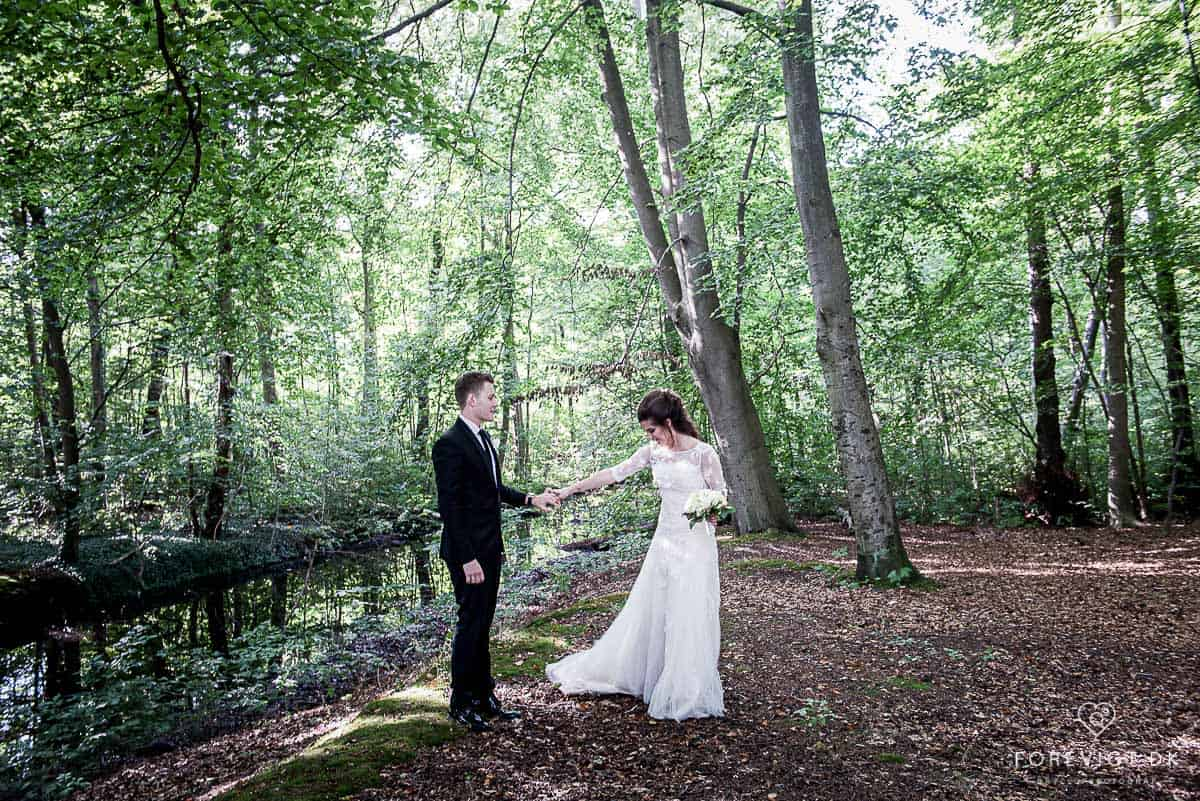 Bagsværd sø bryllupsfotografering