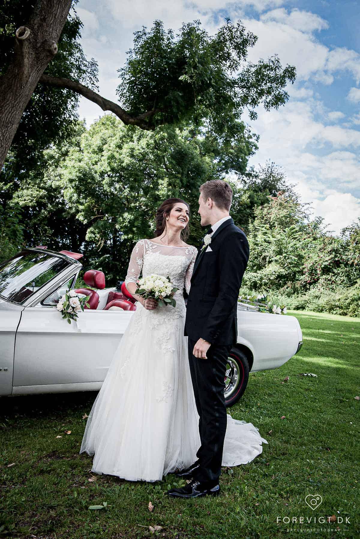 Bryllupsfotografering på Sjælland