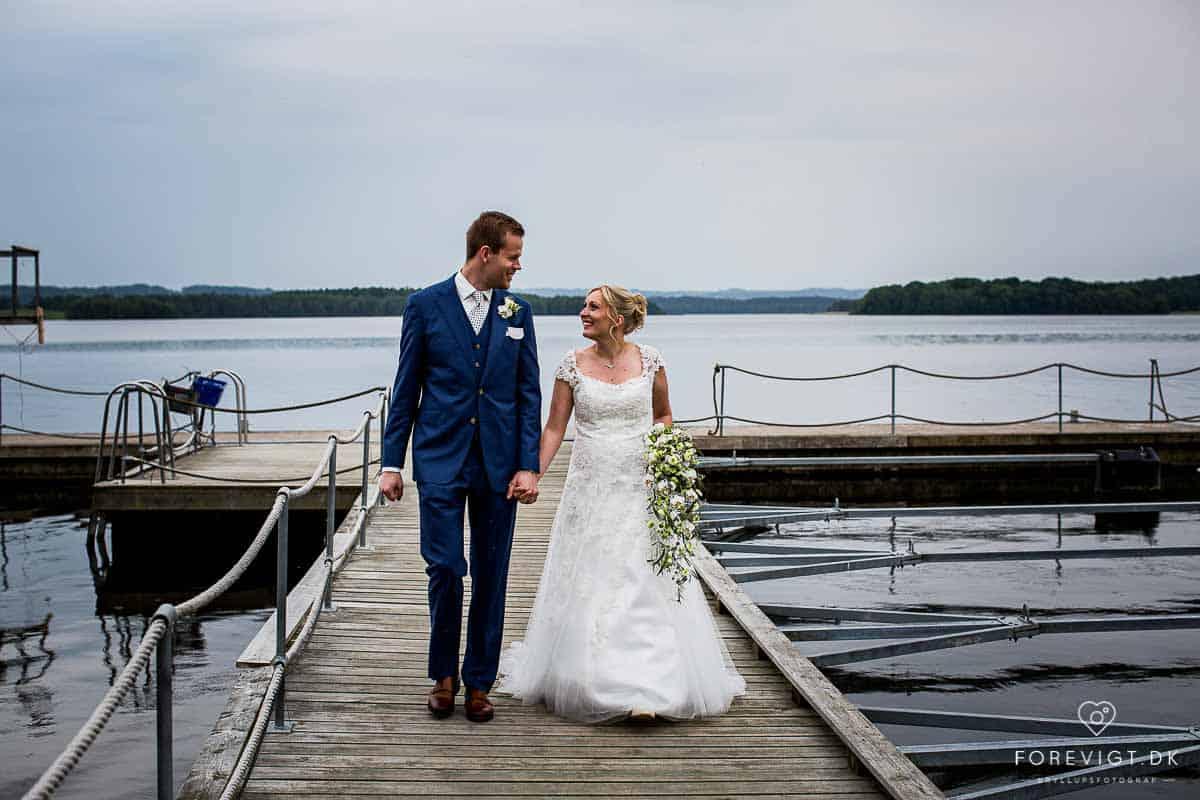 Skanderborg Slotskirke bryllupsfotos