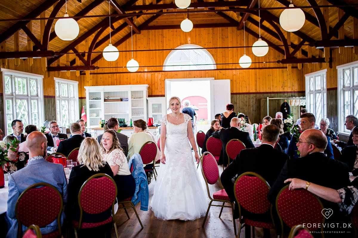 Reception, bryllupskage og bryllupsfest ved Vestermølle