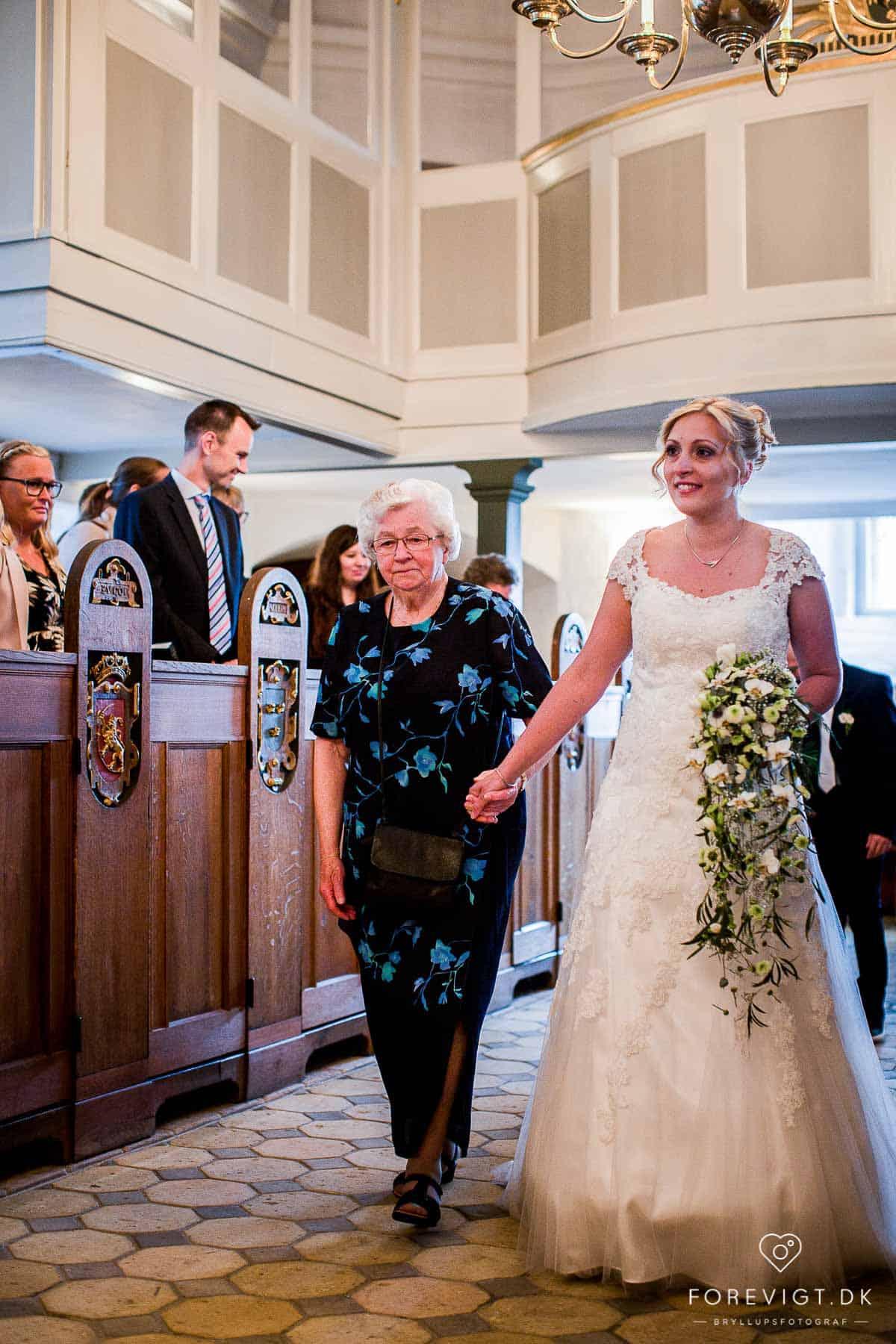 Skanderborg Slotskirke bryllupsfoto