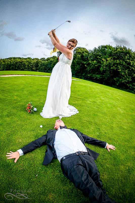 golf bryllup