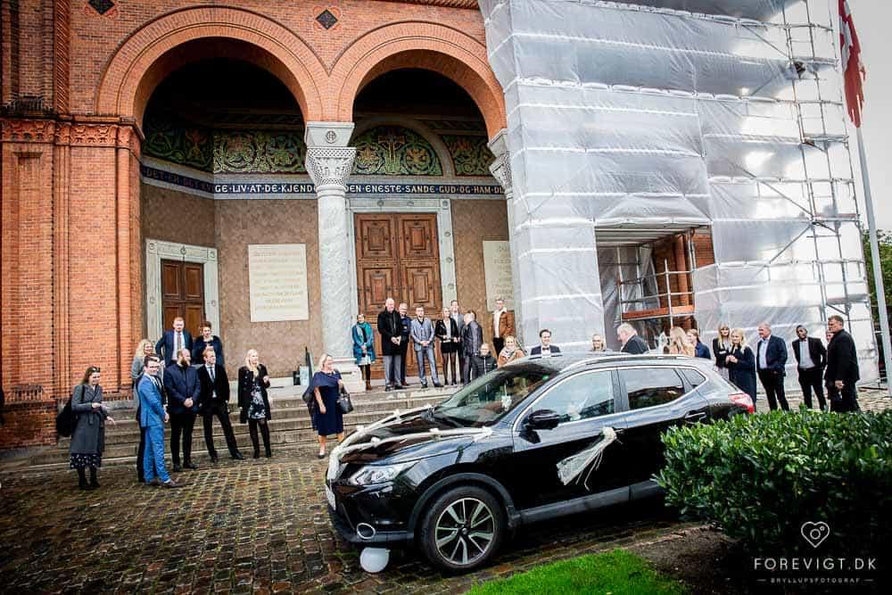 Bryllupskørsel i København i bryllupsbil
