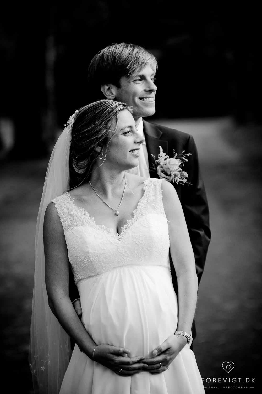 Flere billeder af udendørs bryllup