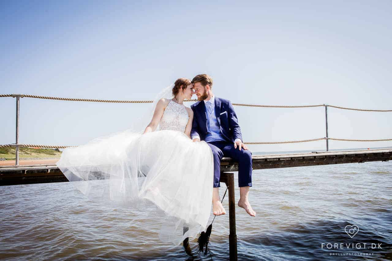 bryllupsbilleder Vesterhavet