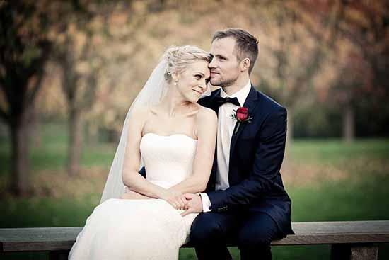 smuk brudepar